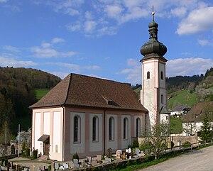 Bollschweil Priory - Parish church in the village of St. Ulrich (former Benedictine priory)