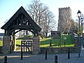 St Woolos Cathedral lychgate and tower - geograph.org.uk - 716873.jpg