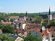 Stadtansicht Weimar mit Schloss und Herderkirche