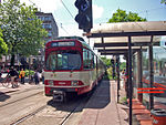 Stadtbahn Düsseldorf GT8SU Neuss Hbf 01