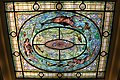 Stained glass skylight in Fordyce Bathhouse.JPG
