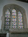 Stained glass window in the chancel at the Church of the Blessed Virgin Mary, Singleton - geograph.org.uk - 1142894.jpg