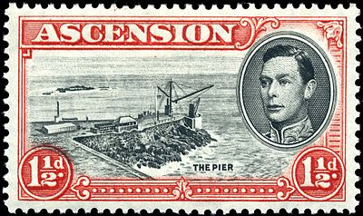 "View of ""The Pier"" (1938) Stamp Ascension 1937 1.5p.jpg"