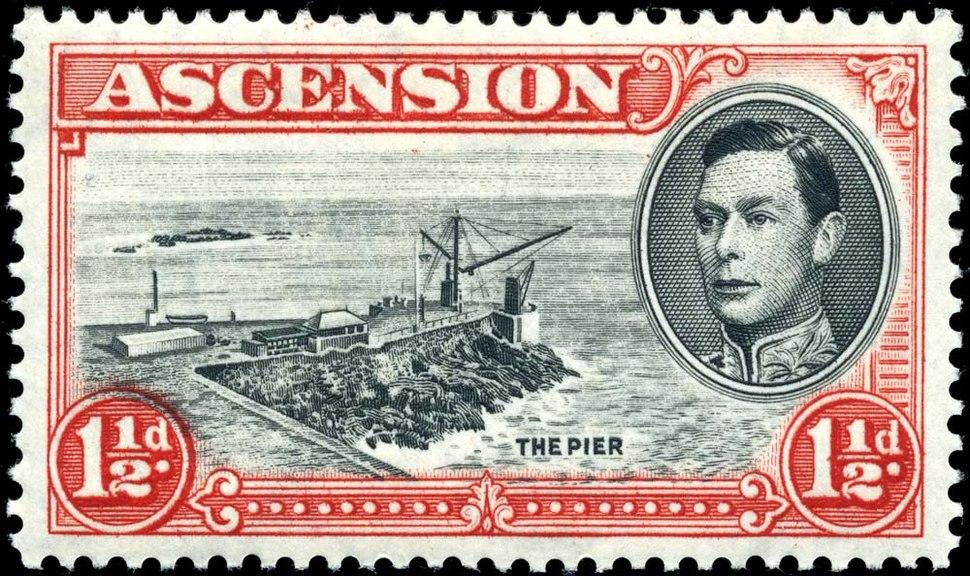 Stamp Ascension 1937 1.5p