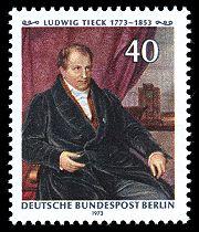 Gemälde von Carl Christian Vogel von Vogelstein auf einer Berliner Sonderbriefmarke von 1973 (Quelle: Wikimedia)