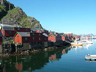 Stamsund Village in Northern Norway, Norway