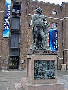Standbeeld Robert Milligan Museum of London Docklands.JPG