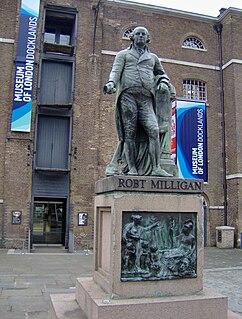 Statue of Robert Milligan Sculpture by Richard Westmacott