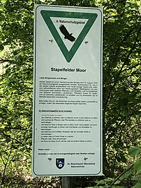 Stapelfelder Moor official sign.jpg