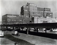 Starrett-Lehigh Building- II. 601 West 26th Street, from Eleventh Avenue and 23rd street looking northeast past the West Side Express Highway, Manhattan (NYPL b13668355-482726).jpg
