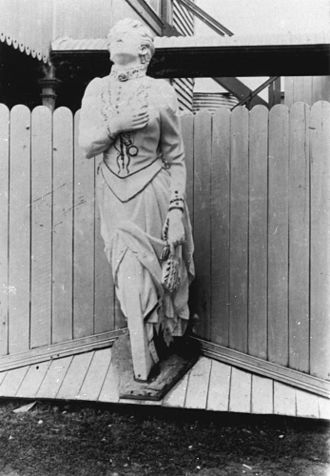 History of Gold Coast, Queensland - Figurehead of the Scottish Prince Figurehead of the wrecked ship, Scottish Prince at Southport, 1895.