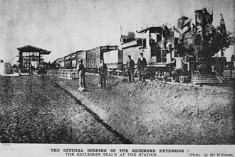 Richmond, Queensland - Official opening of the railway line to Richmond, 1904