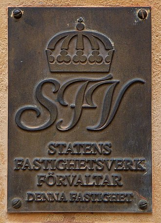 National Property Board of Sweden - National Property Board plaque on a building