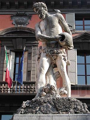 Crostolo - A statue in Reggio Emilia's Piazza del Duomo figuring the Crostolo