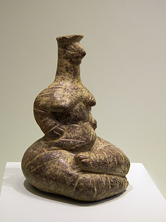 History of Crete - Goddess clay figurine. Neolithic, 5300–3000 BC. Pano Chorio, Ierapetra region, Crete. Archaeological Museum of Heraklion