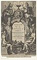 Stenen boog met een medaillonportret van Justus Lipsius Titelpagina voor Justus Lipsius, Opera Omnia, Antwerpen 1637, RP-P-1963-297.jpg