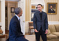Stephen Curry meets with President Barack Obama in the Oval Office, 2015-02-25.jpg
