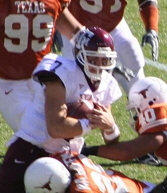 2006 Texas A&M Aggies football team - Texas tackles Stephen McGee.
