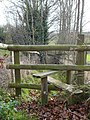 Stile and footpath to Fox Wood - geograph.org.uk - 662974.jpg