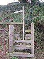 Stile on Dart valley Trail above Dittisham - geograph.org.uk - 271041.jpg