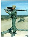 Stinger missile launcher with IFF device at a proving ground (in colour).jpg