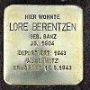 Stolperstein An der Ringmauer 1 Berentzen Lore