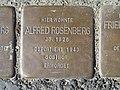 Stolperstein Alfred Rosenberg, 1, Große Werlstraße 6, Wiescherhöfen, Hamm.jpg