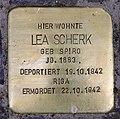Stolperstein Bayerische Str 27 (Wilmd) Lea Scherk.jpg