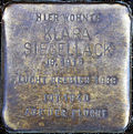 Stumbling block for Klara sealing wax (Thieboldsgasse 134)