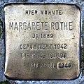 Stolperstein Stierstr 3 (Friedn) Margarete Rothe.jpg