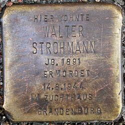 Stolperstein walter strohmann grüntaler straße 30 0064