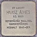 Stolperstein für Agnes Haasz (Budapest).jpg