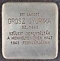 Stolperstein für Gyurika Grosz - Grosz Gyurika (Budapest).jpg