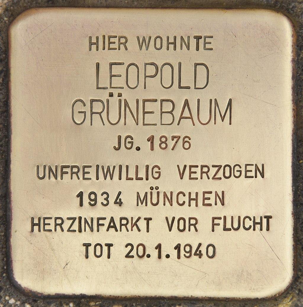 Stolperstein für Leopold Grünebaum (Passau).jpg