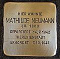 Stolperstein für Mathilde Neumann.JPG