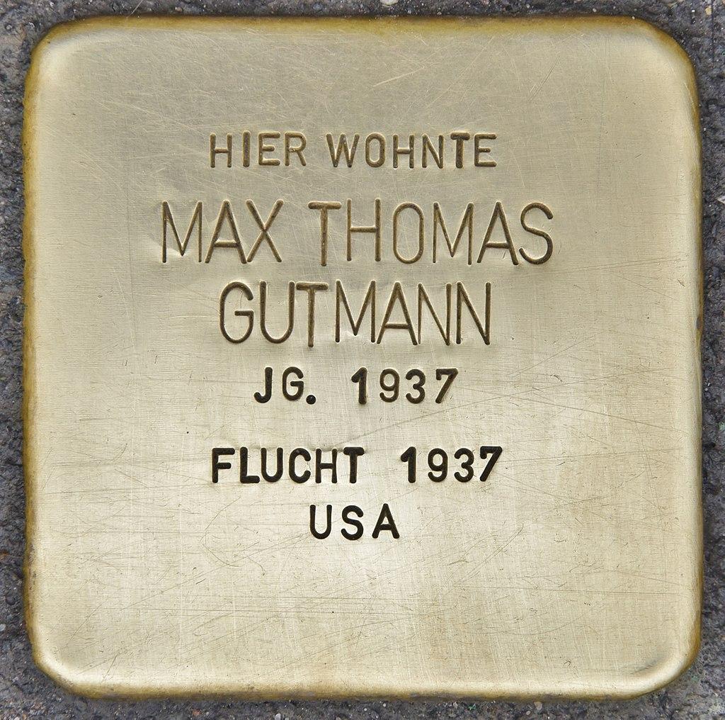 Stolperstein für Max Thomas Gutmann (Heidelberg).jpg