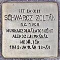 Stolperstein für Zoltan Schwarcz (Budapest).jpg