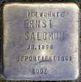 Stolpersteine Köln, Ernst Salomon (Dasselstraße 37).jpg