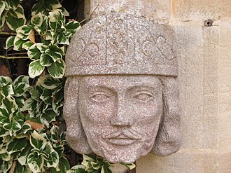 Richard of Chichester - Sculpture of Richard of Chichester outside St  Margaret's Church, Rottingdean