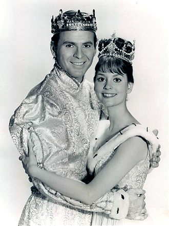 Stuart Damon - Damon as the Prince, pictured with Lesley Ann Warren as Cinderella.