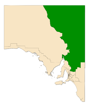 Electoral district of Stuart - Electoral district of Stuart (green) in South Australia