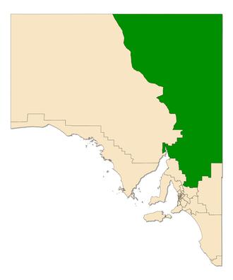 Electoral district of Stuart - Electoral district of Stuart (green) in South Australia