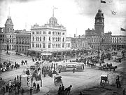 Sturt and lydiard streets in 1899