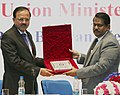 Subhash Ramrao Bhamre being presented a memento by the Chairman DRDO and Secretary, DD (R&D), Dr. S. Christopher.jpg