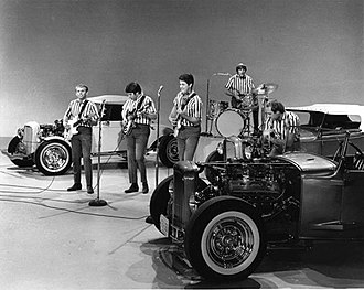 "Surf music - The Beach Boys performing ""I Get Around"" in 1964."