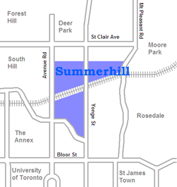 Location of Summerhill