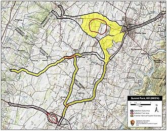 Battle of Summit Point - Image: Summit Point Battlefield West Virginia