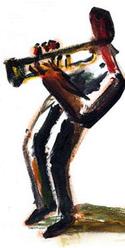 Immagine stilizzata di un musicista jazz