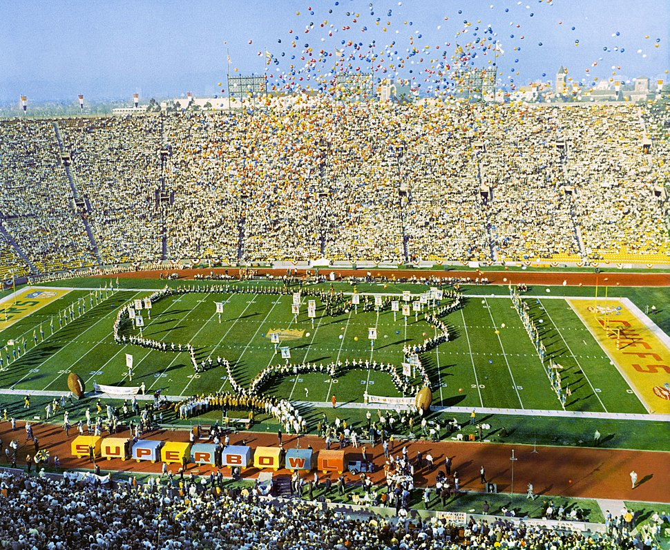 SuperBowl I - Los Angeles Coliseum (cropped)