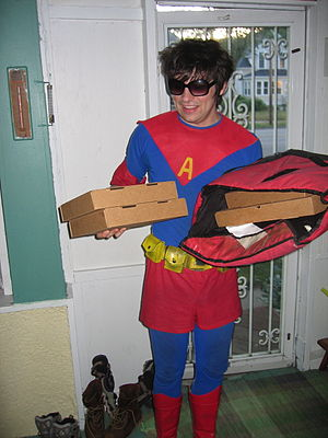 A special type of pizza delivery practised by ...
